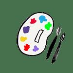 couleurs peinture pinceaux