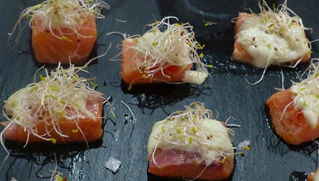 dés de saumon leku foot