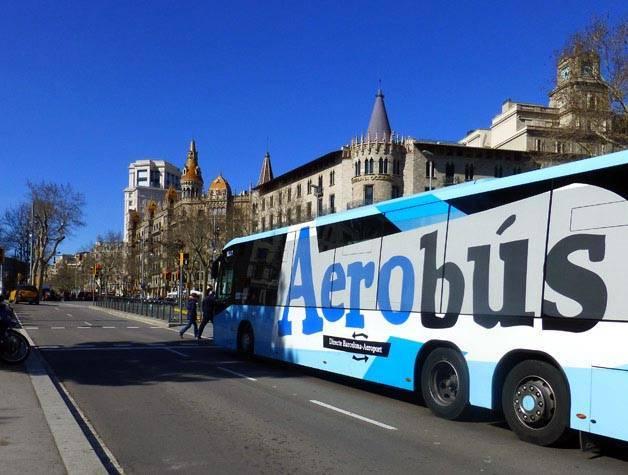 transfert en aerobus aéroport- barcelone