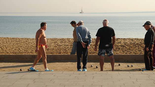 boulistes bord de mer Barcelone
