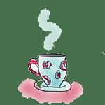 dessin tasse à thé