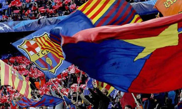 Barça drapeaux camp nou