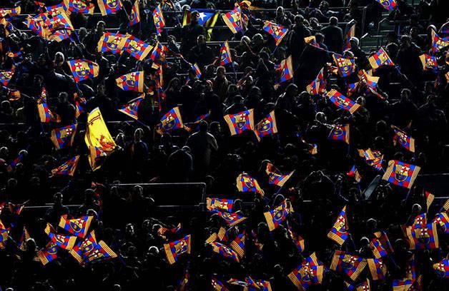Barça drapeaux