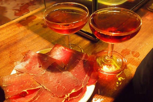 la Xampanyeria jambon ibérique coupes