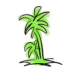 dessin logo la palmera restaurant