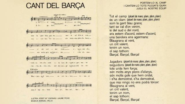 hymne du Barça