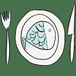 dessin assiette.poisson