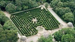 labyrinthe horta vu d'en haut