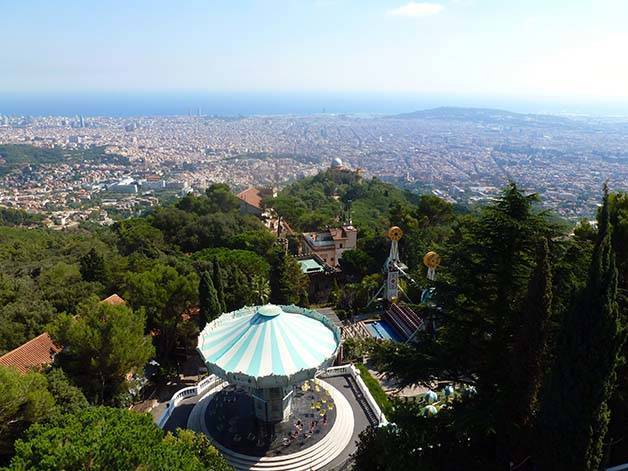 tibidabo vue Barcelone