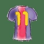 dessin du maillot-11 du barça