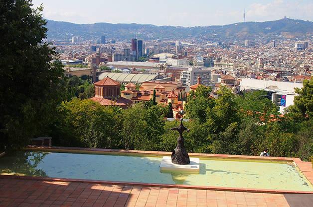fondation miro panorama sur Barcelone