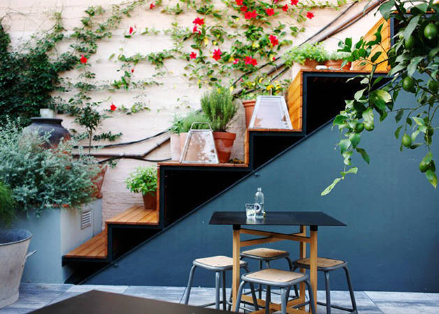 federal café escalier