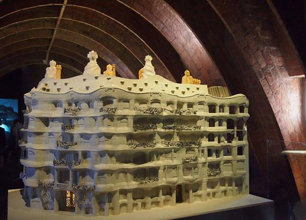 Maquette de la Casa Milà