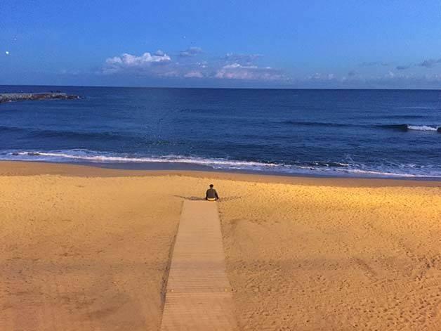 plage vide séjour février
