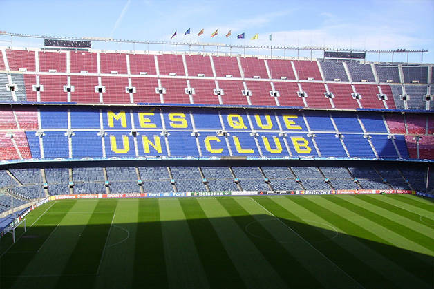 camp nou avant un match de foot