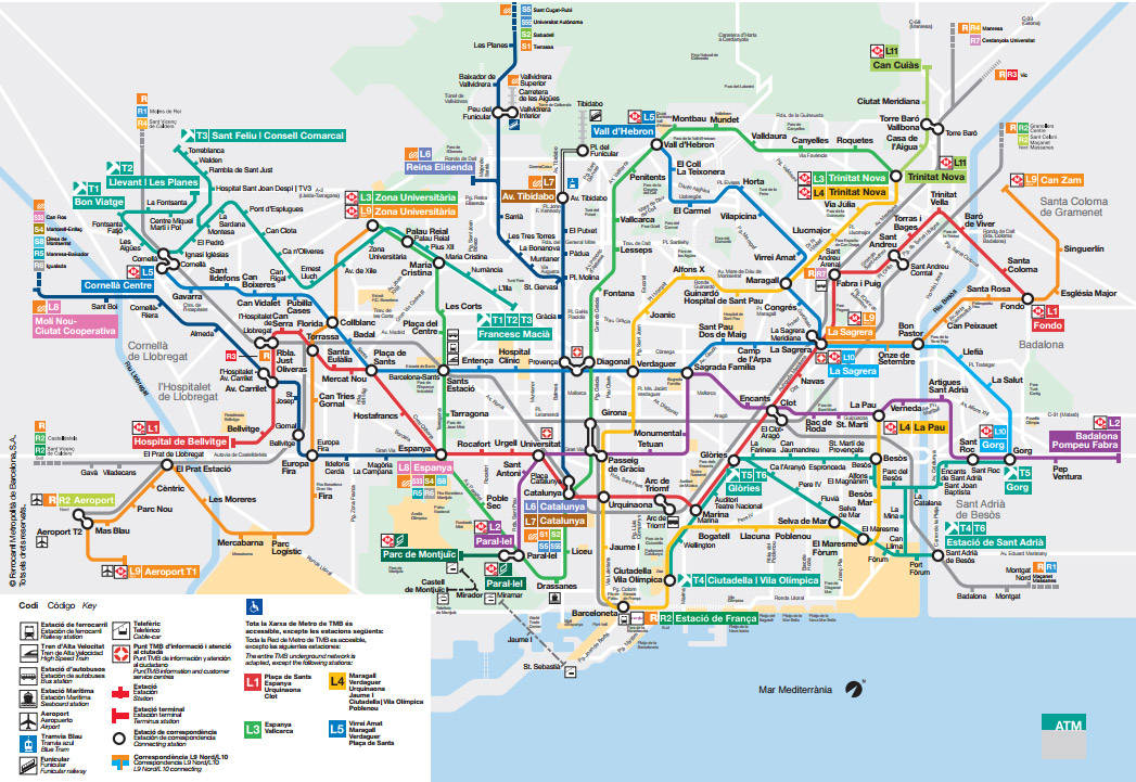 Plan Du Mtro De Barcelone
