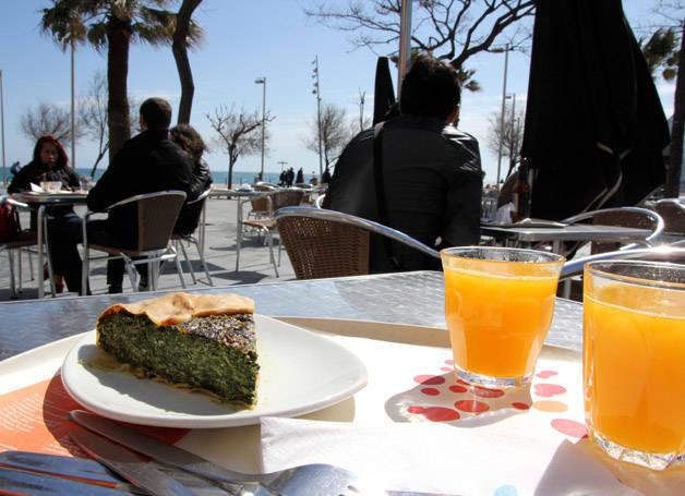terrasses ensoleillées: buenas migas Barceloneta