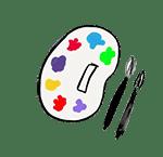 dessin palette peinture