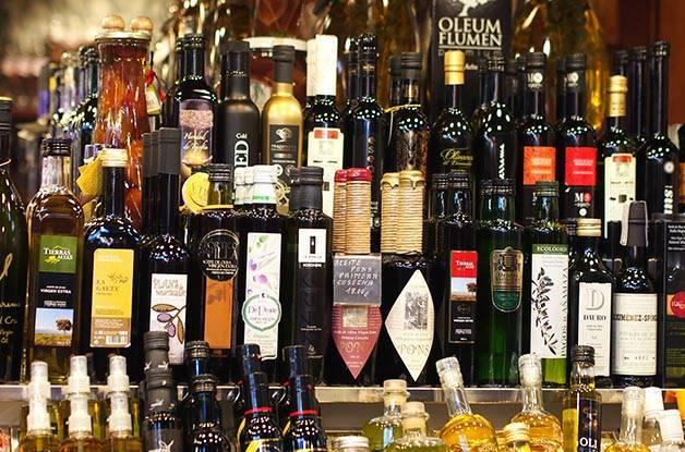 huile d'olive en rayon