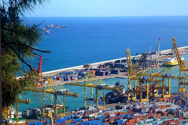 montjuic port industriel panoramas