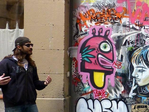 street-art à Barcelone avec Mike