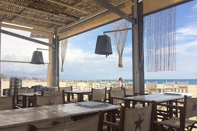 Bar de plages de Barcelone