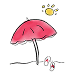 dessin d'un parasol