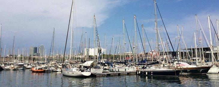 port de Barcelone au mois d'août