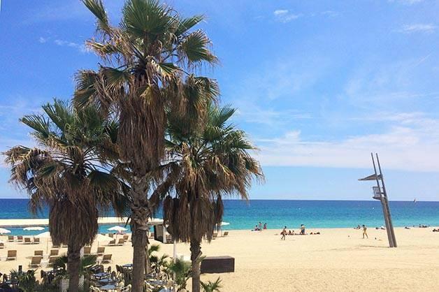 week-end sur les plages de Barcelone