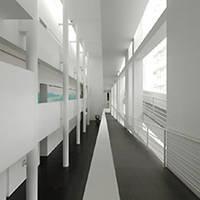 MACBA intérieur blanc architecture