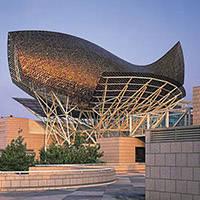 art public: sculpture: Peix/ poisson port olympique