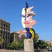 art public à Barcelone: sculpture: barcelona's head