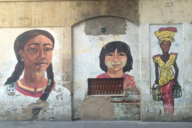 côté alternatif de Barcelone: peintures murales