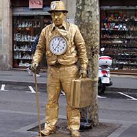ramblas: statue vivante
