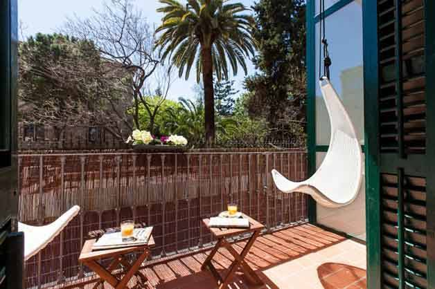 Hostal Ecozentric-terrasse week-end séjour écolo