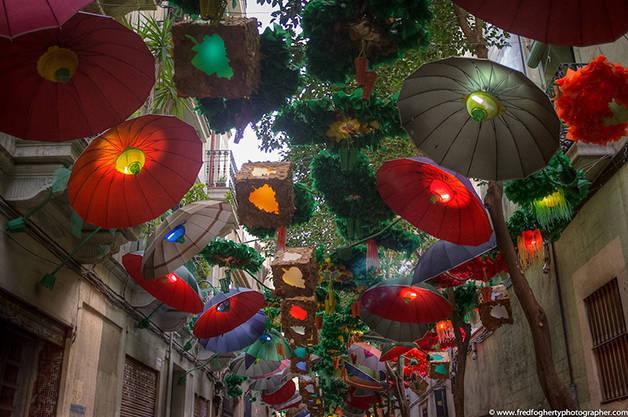 Parapluies: fêtes de Gràcia activités gratuites