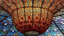 Palau de la música: coupole en vitraux