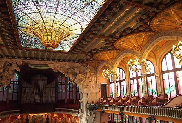 coupole et balcons du palau de la musica catalana