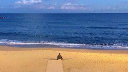novembre plage déserte