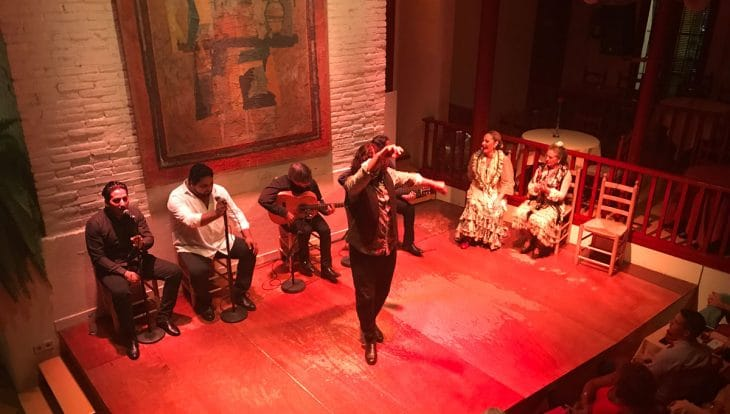 spectacle flamenco tablao del Carmen