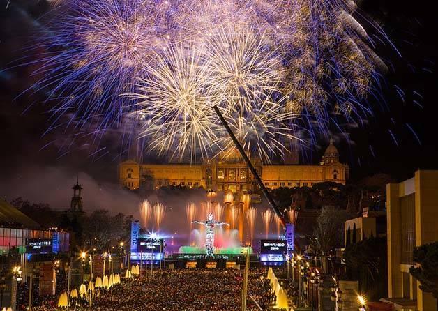 nouvel an à Barcelone