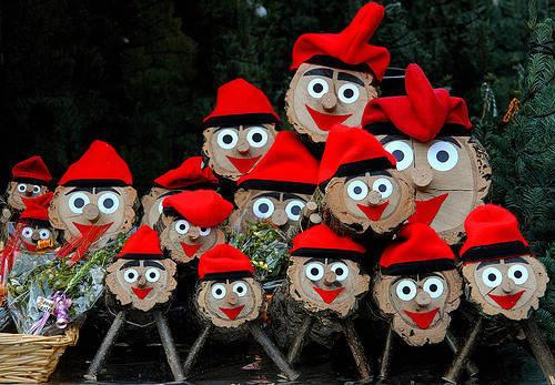 tio de nadal marchés de Noël