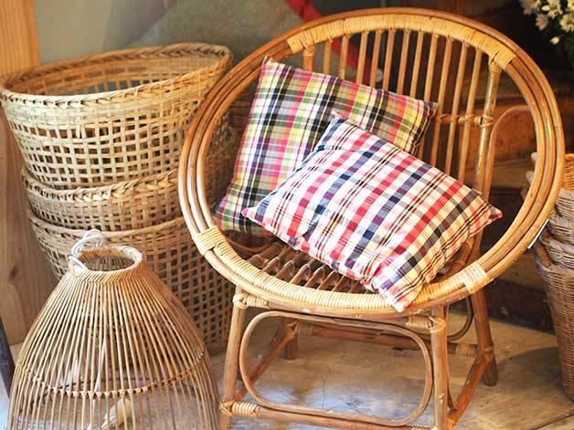 fauteuil rond en osier La Variété