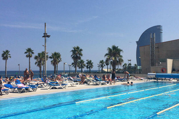 piscine week-end sport à Barcelone