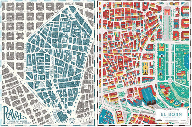 plans de quartiers de Barcelone Grey Street