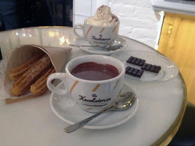 chocolat et churros chocolaterie balaguer Barcelone
