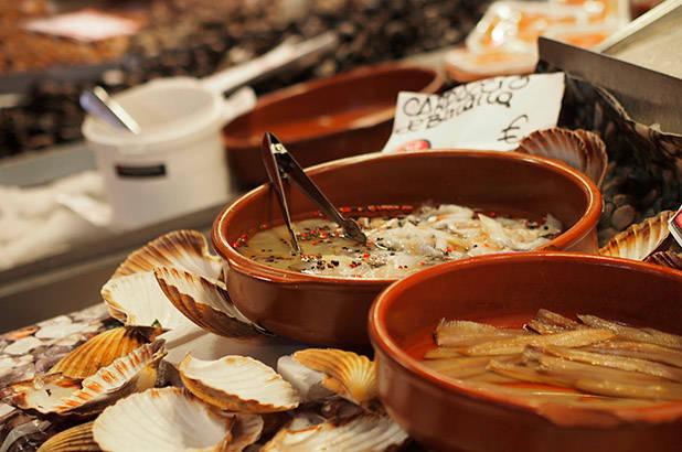 crustacés marché de la Boqueria