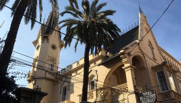 Sitges, hôtel el Xalet vu de l'extérieur