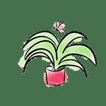 dessin plante verte