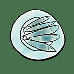 dessin plat de sardines